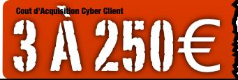 coût d'acquisition du client web ou cyber acheteur ou acheteuse