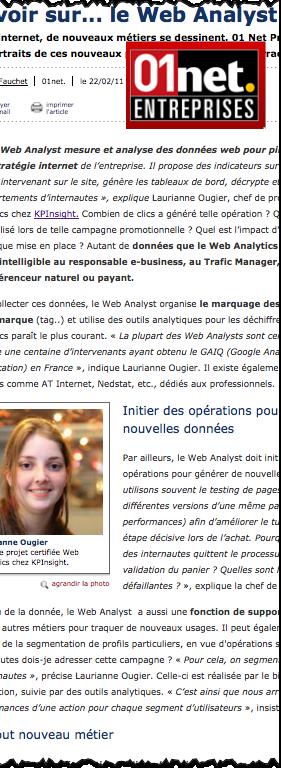 Metier du Web Analyst